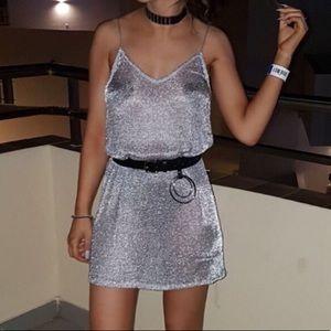 Zara Dresses - 🦋Metallic Mesh Dress/Cover-Up🦋